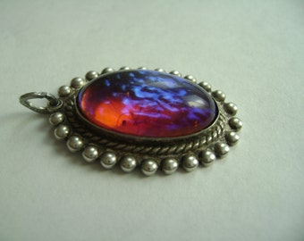 vintage dragons breath pendant in sterling