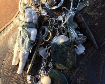 Lovely Love in Green OOAK Necklace by SusanARay of OneHealingStone