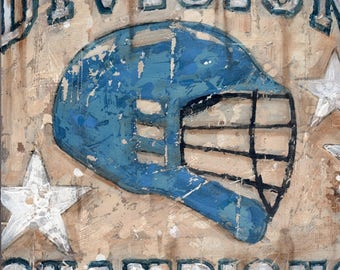 Lacrosse- Lax Helmet Championship - Vintage style sports wall art by Aaron Christensen.  A perfect piece for Lacrosse Fans and Players.