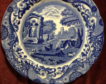 French Country Toile Spode Copeland Italian plate