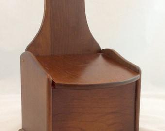 Vintage Wood Recipe Box, Pine Recipe Box/ Primitive Wood Recipe Box