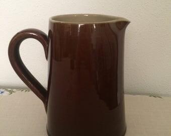Denby brown stoneware jug