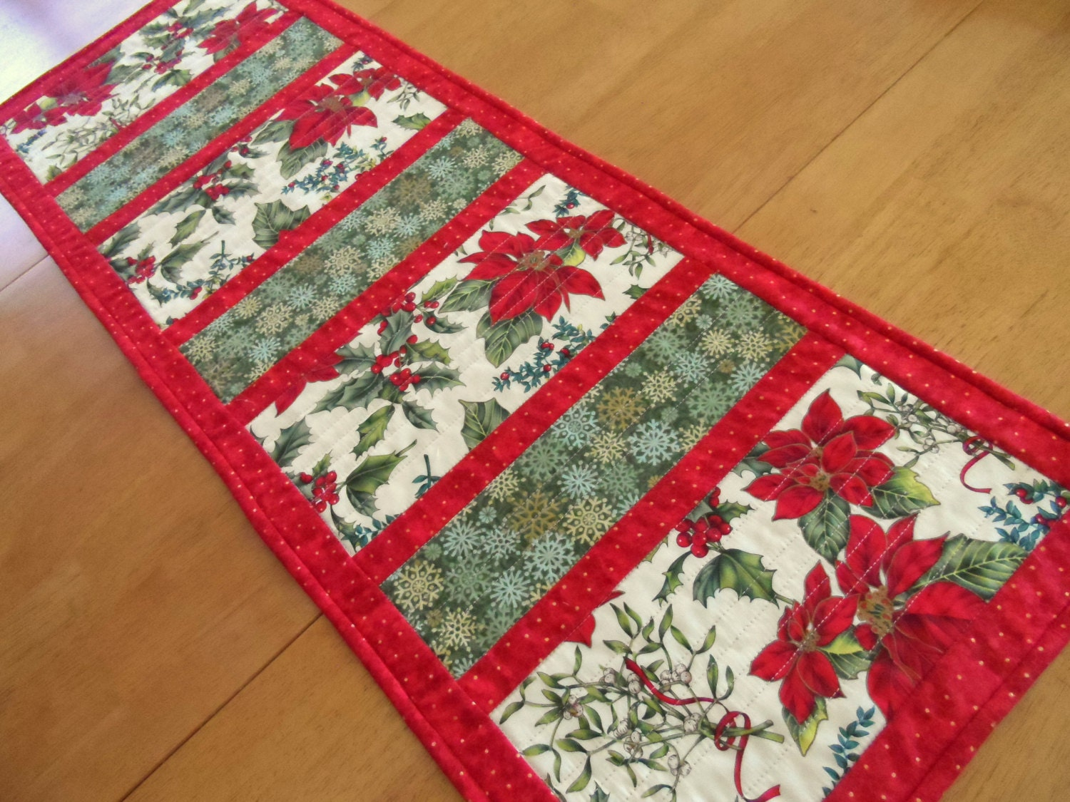 Christmas Table Runner Modern Holiday Table Runner