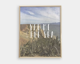INSTANT DOWNLOAD Printable digital art - You, me and the sea - Beach scene, Summer art print, Boho art, Minimalist, Home decor - SKU:2282