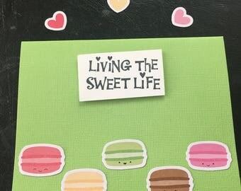 Green macaron sweet life