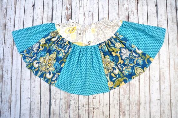 Teal/Maize Twirl Skirt 6/7