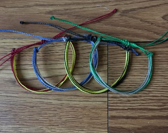 Harry Potter House Colors Multistrand Bracelet - Pura Vida Bracelet - Gryffindor, Slytherin, Ravenclaw, Hufflepuff