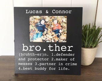 Brother Picture Frame, Brother Buddy for Life, Big Brother Little Brother, Gifts for Brother, Brother Gift, Brother Birthday Gift