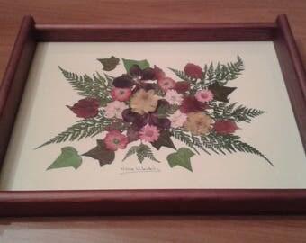 Bandeja flores prensadas