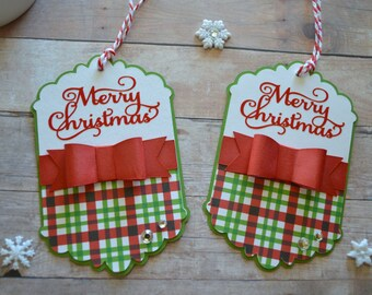 Christmas Tags, Christmas Gift Tags, Green and Red Tags, Merry Christmas, Christmas Gift, Pretty Packaging, Party Favor, Tags for Christmas