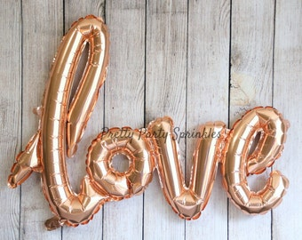Engagement Party Decorations, Love Balloon, Valentines Day Idea, Wedding, Rose Gold Bachelorette Decor, 1 Birthday, Baby Shower, Kate Spade