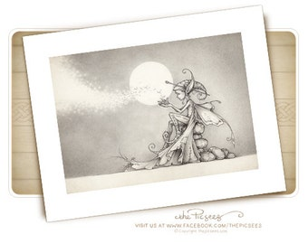 A limited edition art print of Nalu the firefly faerie...