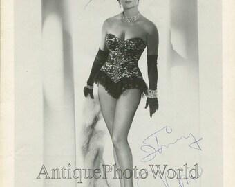 Ann Corio burlesque dancer stripper signed 1950s photo