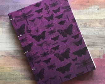 Butterflies/Months Specimen Sketchbook/Journal, Blank Pages, No Lines, 5 x 7 inches, 50 White Pages, 10 Colored Pages