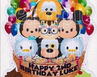 NEW!! Custom Mickey Mouse Tsum Tsum Birthday Disney Cruise Line Stateroom Door Magnet