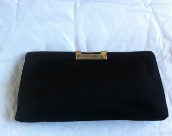 Zumpolle Black Silk Evening Clutch Purse