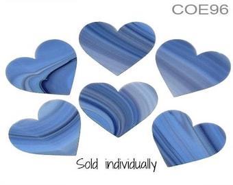 "SPECTRUM COE 96 Hydrangea Swirl 2"" Heart Fusible Glass Fusing Ltd Edition Fusing Supplies"