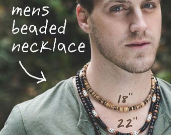 NECKLACE LENGTHS for Men - For information only (not for sale)