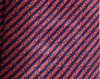 Vintage Stefano Ricci for Saks Fifth Avenue Pink and Blue Tie