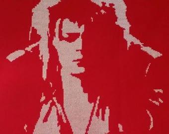 David Bowie Jareth Labyrinth Cross Stitch Pattern
