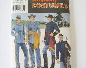 "Simplicity 7274 Sewing Pattern Men's Civil War Costume Frontiersman Reenactment Cosplay Halloween Chest Size 30 - 48"" UNCUT"