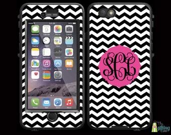 Monogrammed Lifeproof® Phone Case Decal Skin, iPhone 7/7 Plus, 6/6S & 6/6S Plus, 5/5S/SE/5C, Galaxy S7/S6/S5/S4/S3, Stretched Chevron