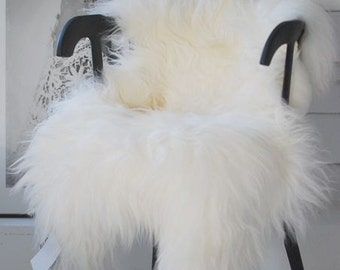 XXL Large Luxurious Genuine Icelandic Sheepskin Rug Sheep Fur In Natural Ivory/Cream Color