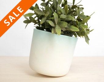 FlowerTop, Rotating planter, modern skew design pot for flower or plant - herbs pot for growing herbs - home garden- studio lorier gift pot