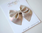 IMPERFECT Iridescent Leather Baby Ruth Style Bow