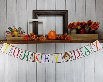 Thanksgiving Banner - Turkey Day Banner - Thanksgiving Decor - Thanksgiving Bunting