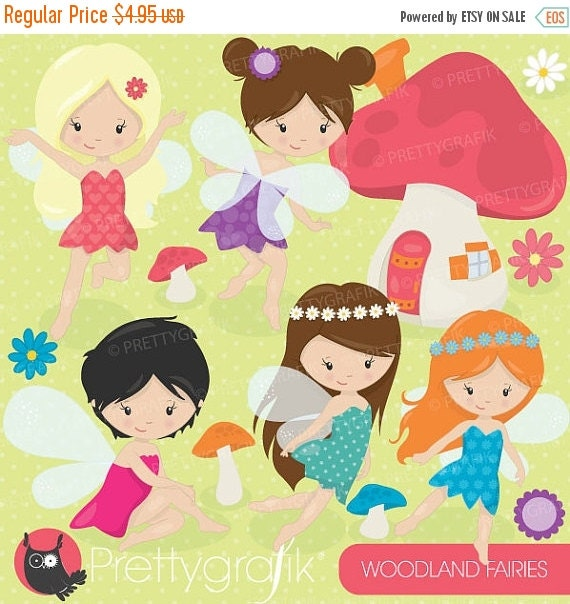 80% OFF SALE fairy clipart commercial use, vector graphics ...