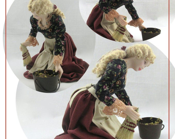 Dollhouse Doll CINDERELLA Doll Pattern and Instructions PDF Miniature Dollhouse 1:12 Scale Instant Download Disney Princess Step Mother