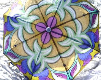 IN STOCK! All Color Choices! Rain Umbrella Handmade Fashion Mandala Art