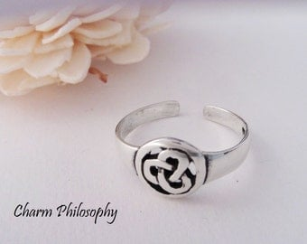 Celtic Knot Toe Ring - 925 Sterling Silver Jewelry - Celtic Design
