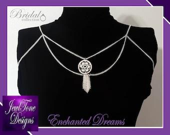 Shoulder Jewelry, Bridal Jewelry, Shoulder Necklace, Bridal Shoulder Jewelry, Enchanted Dreams - by Jewltone Designs