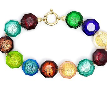 Murano Glass 9k Gold Bracelet