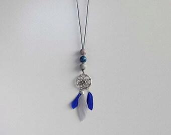 Dream catcher Necklace dark blue
