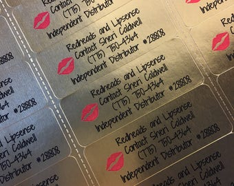 Custom COLOR Gold Laser Labels for Lipsense REORDER 1 Sheet 30 Labels Lip Sense