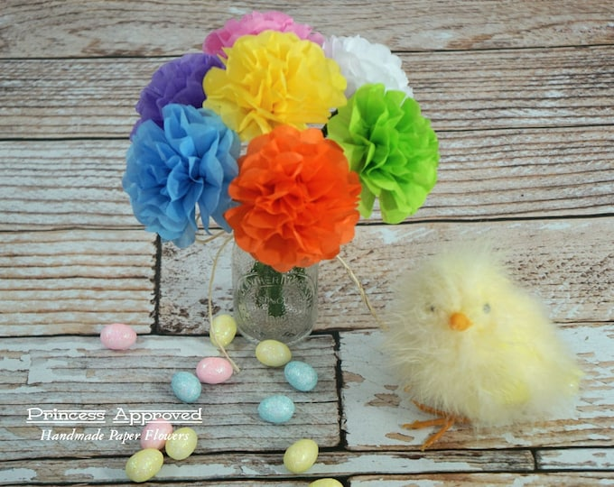 Mini Tissue Paper Flowers (6 count) Choose Your Own Colors
