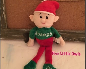 Personalized Christmas Elf, santas helper elf, stuffed elf, doll elf, boy elf
