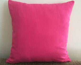 Hot Pink Pillow Cover, 18''x18'' Candy Pink Decorative Pillow Cover