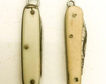 Knife. Vintage knife. Pocket knife. knife fob. pendant. charm. supplies. xsmall. Knife pendant. USA. Germany. LA