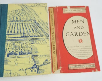 Men and Gardens, Nan Fairbrother 2nd Print 1956, Hardcover w/DJ, Illustrations, History Landscape Design, Horticultural Free USPS Media Mail