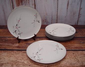 ON SALE - Set of 6 Cherry Blossom Fine China Dinner Plates, 1067
