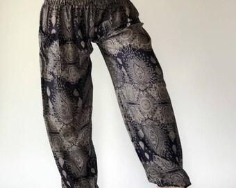SM0006 Thai Genie Pants Comfy Trouser, Gypsy Pants Rayon Pants,Aladdin Pants Maxi Pants Boho Pants