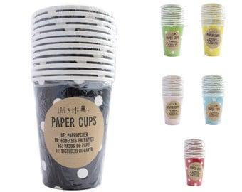 Paper Cups Party (9oz) Polka - Tableware Wedding Birthday Decoration
