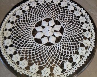 20'' handmade crochet round vintage doilies
