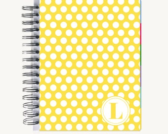 Monthly PlanBook Planner – Personalized | Monthly Calendar | Notebook | To Do List | Bound | Family | Academic | Bold Dot
