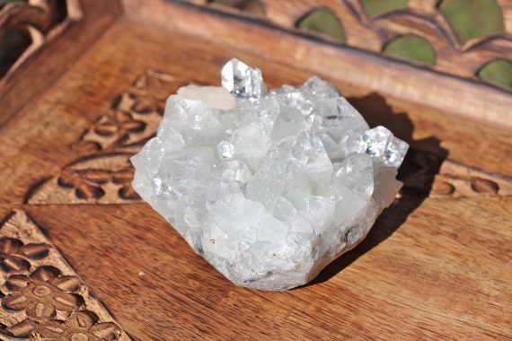 Apophyllite specimen - zeolite - raw crystal - druzy - fluorapophyllite - stibnite - healing crystals and stones - mineral specimen