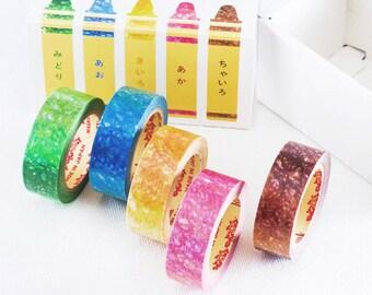 Crayon Scribbles Washi Tape Set - 5 Roll Set